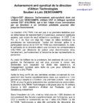 Acharnement anti-syndical de la direction d'Altran Technologies Soutien à Loïc DESCHAMPS