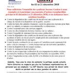 SOCOTEC Gestion : En grève les 3 et 21 décembre 2018