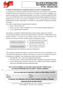 Bulletin d'information CGT Experts Comptables N°104